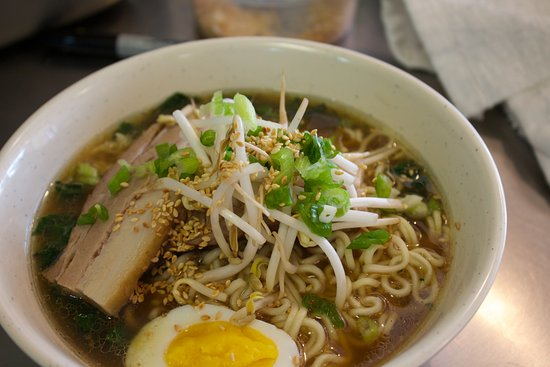 Clinton, WA: Ramen bowl with Pork Belly