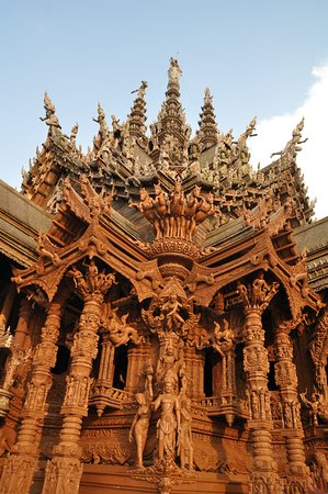 Wooden Designs intricate wooden designs - picture of sanctuary of truth (prasat