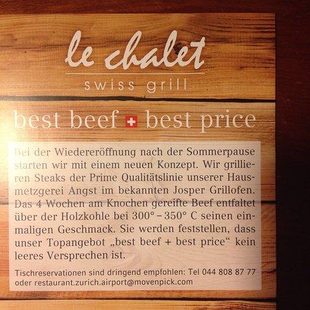 Глаттбругг, Швейцария: Info le Chalet