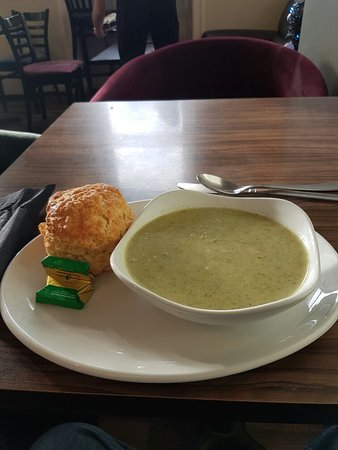 Seaham, UK: Soup and a cheese scone