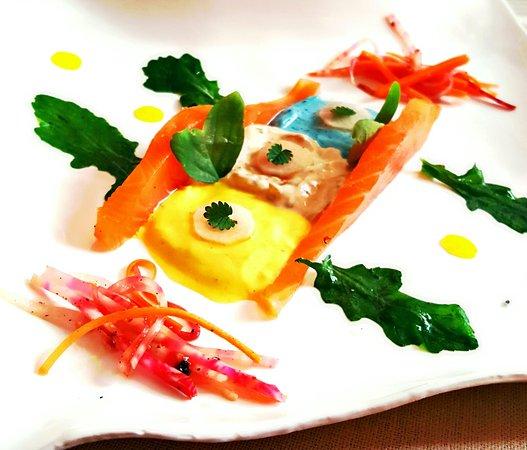 La Bonne Etape: 2 entrées / 2 plats et la Ruche, dessert phare de Jany...