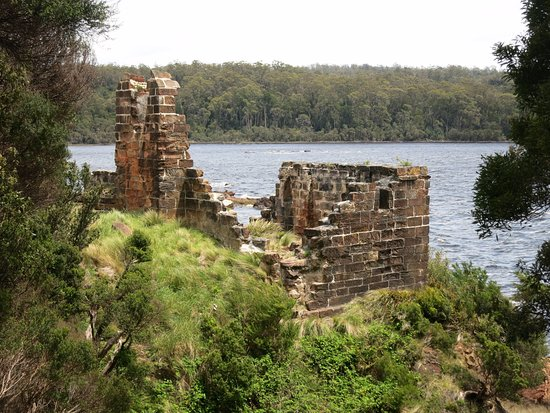 Strahan, Australia: Ruins on Sarah Island