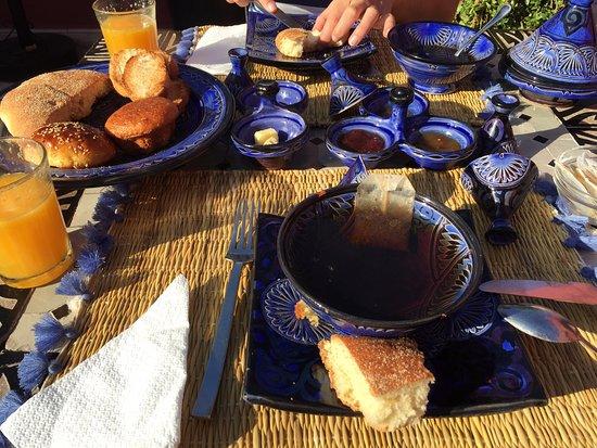 Riad Palais Delia : petit déj' pas très typique dommage