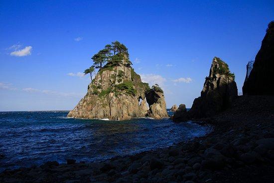 Kuji, Japon : 小袖海岸の奇岩