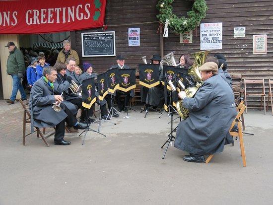 Ironbridge, UK: brass band