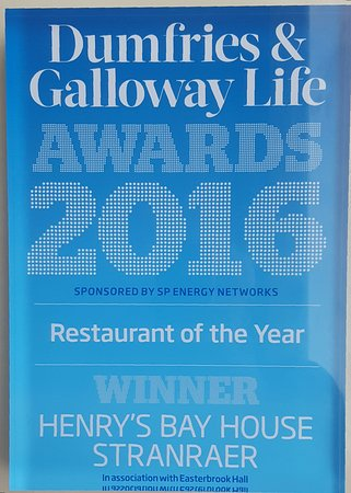 Stranraer, UK: Dumfries and Galloway life restaurant of the year