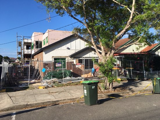 Marrickville, Australia: the ownder did not know there was construction