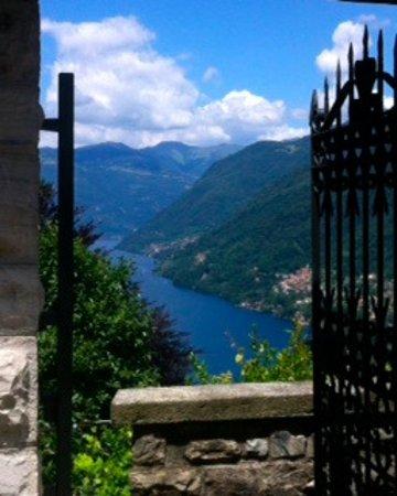 Molina di Faggeto Lario, Italy: vista del lago di como