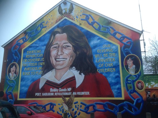 Our wonderful guide picture of taxi trax belfast for Bobby sands mural