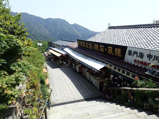 Nachikatsura-cho, Japón: 階段脇には店舗が軒を連ねる