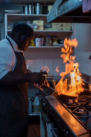 Holetown, Barbados: Executive Chef Anife behind the scenes at The Mews