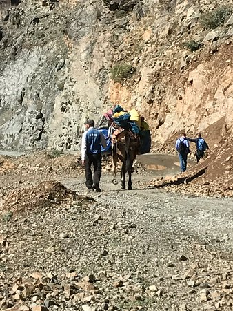 Imlil, Morocco: walking with guide, cook and mule