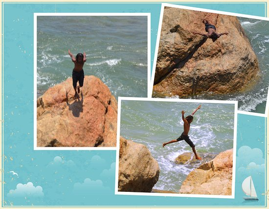Old Town of Galle and its Fortifications: Highlight ! Daring diver !