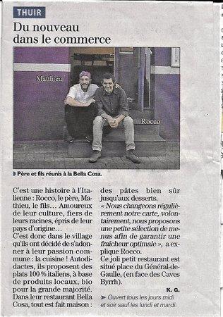 Thuir, Frankrig: Article paru dans le journal l'Indépendant du 4 décembre 2016...