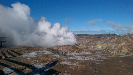 Grindavik, Iceland: Gunnuhver, heet water bronnen