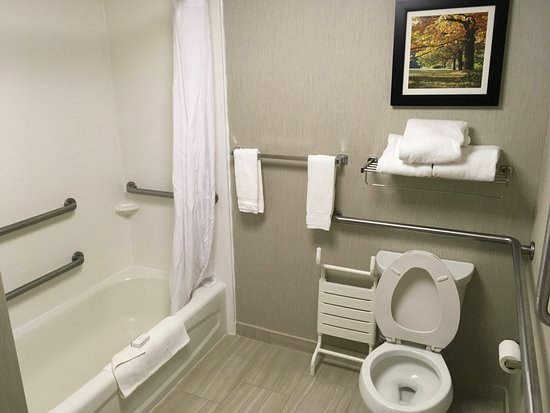 Homewood Suites by Hilton Charlotte Airport: Clean bathroom, housekeeping failed to provide spare tissue roll.