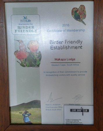 Makapa Lodge: Birder Frienly Establishment!
