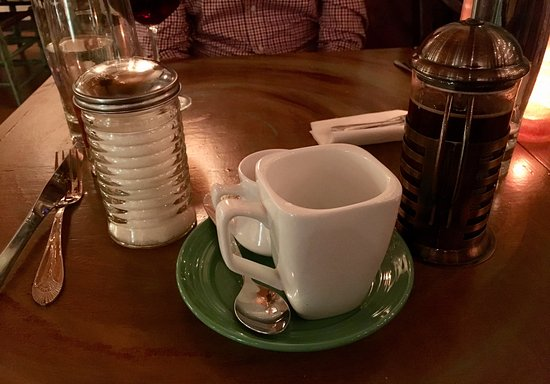 Morganton, NC: French press coffee after dinner