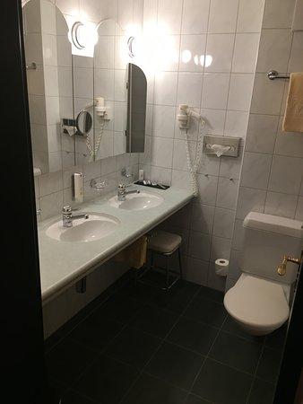 Lenk im Simmental, Switzerland: Salle de bain très fonctionnelle et très propre
