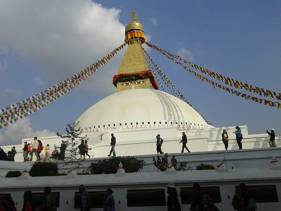 Kathmandu Valley, Nepal: Bouddhanath is one of the most popular tourist places in Kathmandu .  Maintained Bouddha Stupa