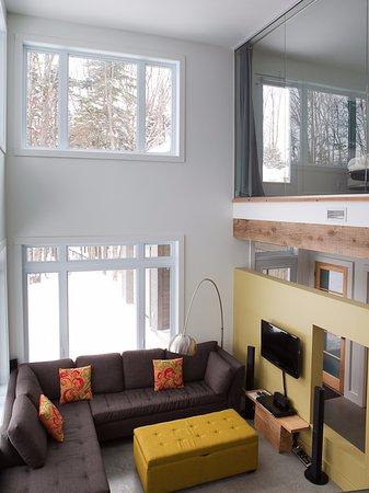 Eastman, Canada: Chalet Orfie, vue de la mezzanine