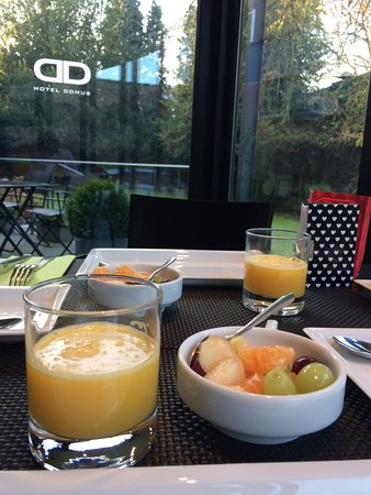 Boom, Bélgica: Healthy breakfast with a garden view