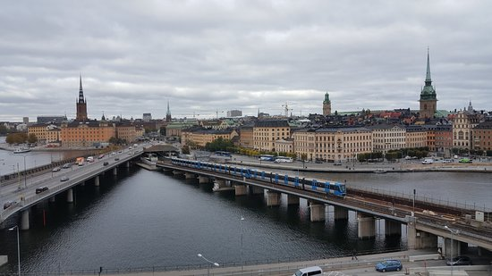 Hilton Stockholm Slussen: One view from the executive lounge towards the Old Town of Stockholm