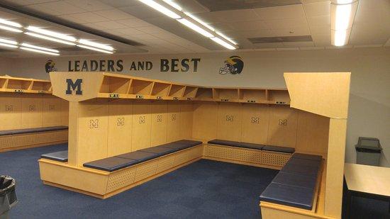 Ann Arbor, MI: Inside the locker room