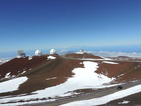 Mauna Kea Summit: Conjunto de observatórios visto do outro lado do cume