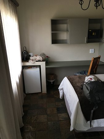 Min frig and coffee maker Picture of Hilltop Guesthouse Windhoek