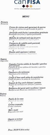 Corbera de Llobregat, España: Menú