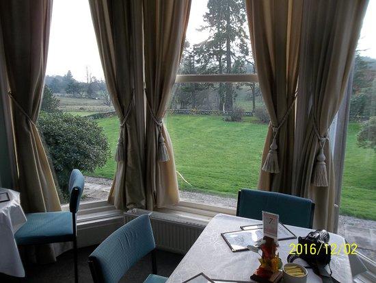 Dumbarton, UK: Overtoun House Tea Room Inside View Looking Out - Scotland