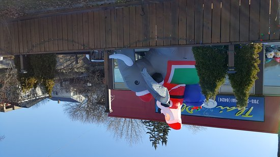 Orillia, Canadá: Thai Plate Christmas display - Santa on an elephant!