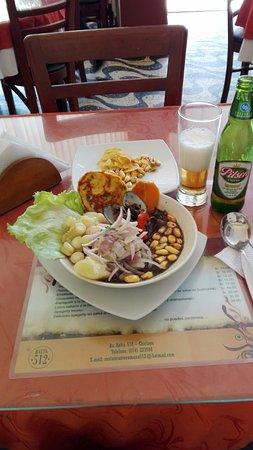 Restaurant Romana: Ceviche de pescado con conchas negras, no está en la carta pero te lo preparan sin ningún proble