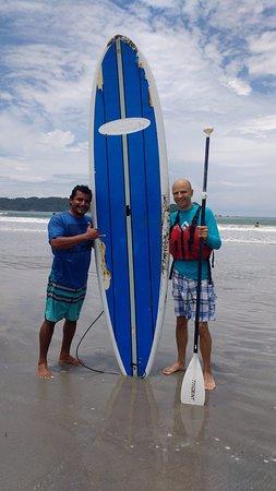 Πλάγια Σαμάρα, Κόστα Ρίκα: After the adventure. With Fabricio.
