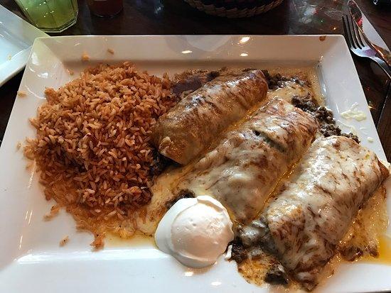 Dos Locos: Beef enchiladas!