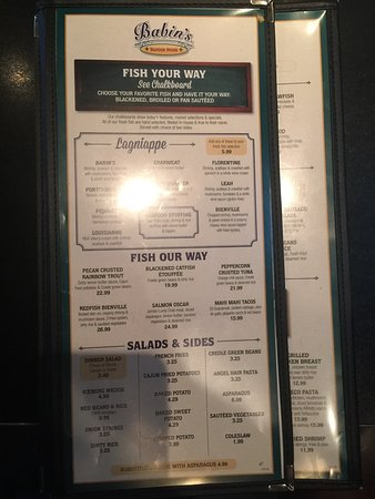 Katy, TX: Menu