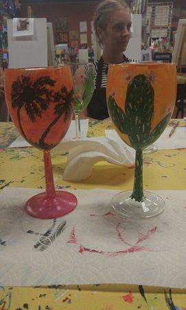Gilbert, AZ: Wine glass painting!