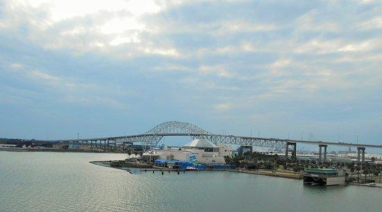 View of Bridge from USS Lexington
