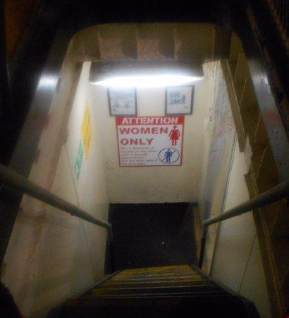 USS LEXINGTON: Stairwell to Women's Bathroom!