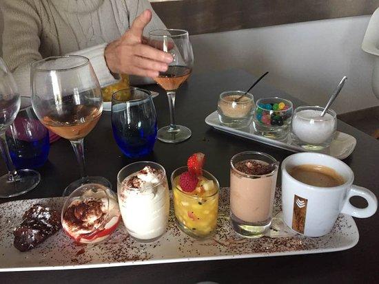 Le Castellet, Francja: Café (très) gourmand, un véritable délice d'accompagnements