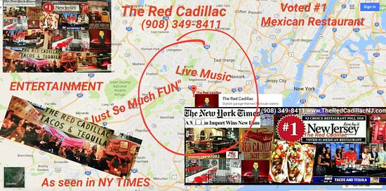 The Red Cadillac..Tacos & Tequilas: 5 minutes from Newark and 20 minutes from NYC