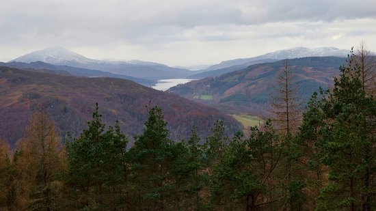 Pitlochry, UK: From the viewpoint north.