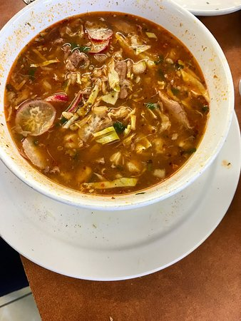 Hawthorne, CA: Pozole. I'm Mexican and it's hard to find a place with real pozole. Right amount of everything i