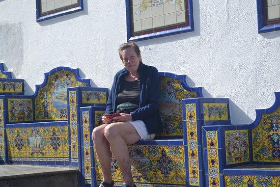 Firgas, España: me having a seat