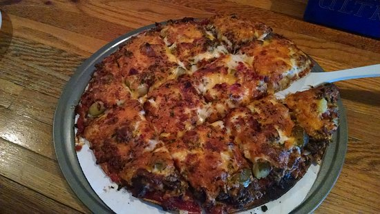 Hayward, WI: Small bacon cheeseburger pizza. More than enough for two hungry adults.