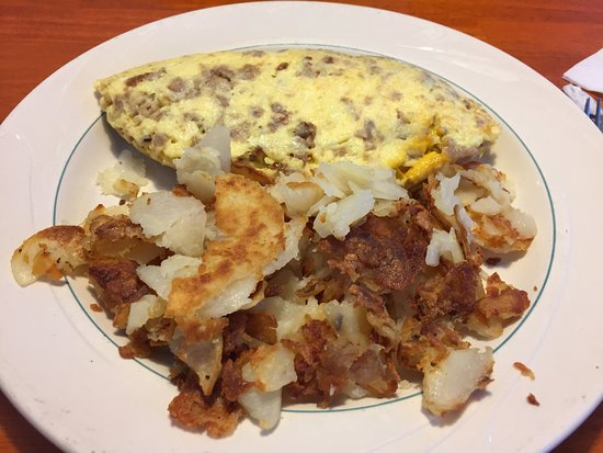 Joliet, IL: Sausage omelette w hash browns