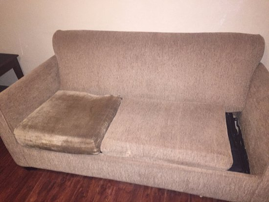 College Park, GA: The sleeper sofa in our room... Who wants to use this?