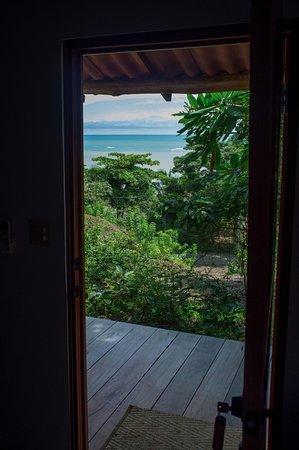 Cambutal, ปานามา: Ocean view from Cedro Espiño Cabaña.