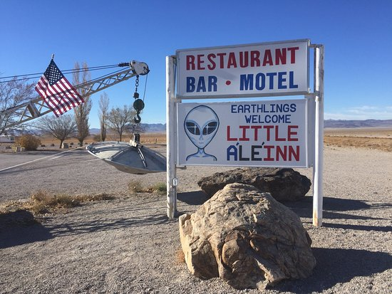Alamo, NV: Parking lot -- welcome!